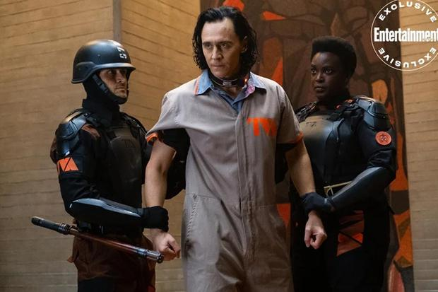 Loki is arrested in a new photo from the Disney Plus series.  (Photo: Entertainment Weekly)