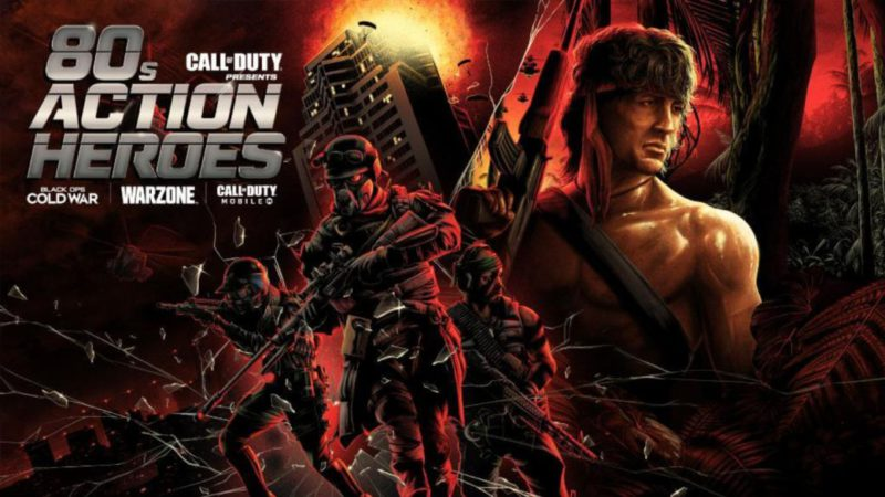 CoD Warzone: new '80s Action Heroes teaser featuring Rambo and Die Hard