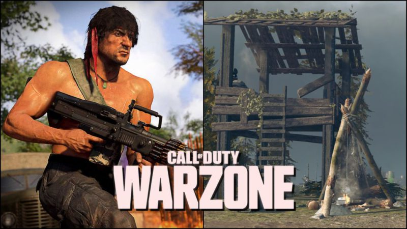 Where are Rambo's Badges and Camps in CoD Warzone