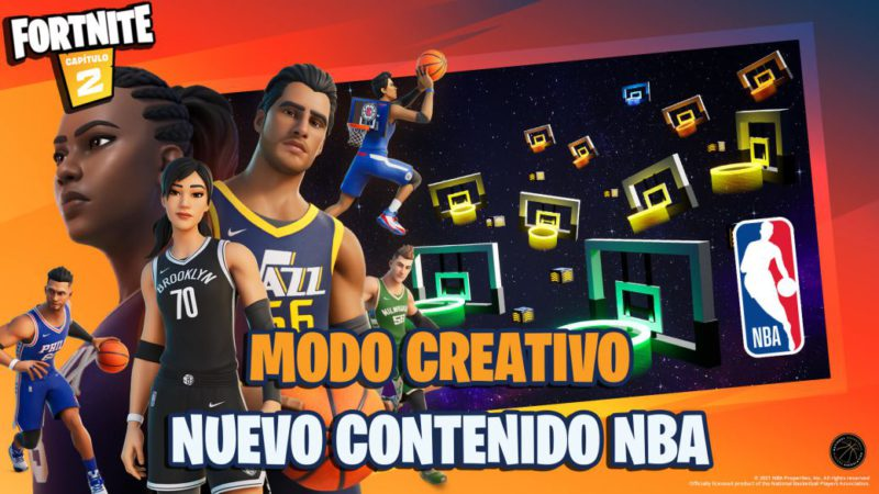 Fortnite x NBA: new content announced for Creative Mode