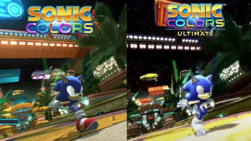 Sonic Colors Wii vs Sonic Colors Ultimate; comparativa gráfica en video
