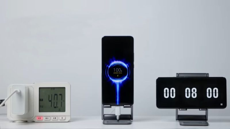 From 0 to 100% in 8 minutes, this is how it charges a 200w Xiaomi