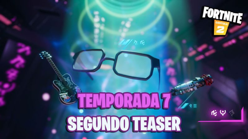 Fortnite Season 7: the second teaser shows an electric guitar, glasses and a new shotgun