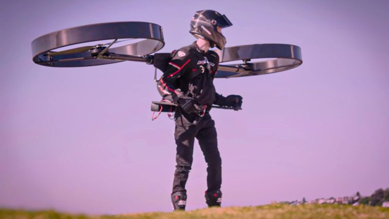 Copterpack, the flying backpack: A helicopter on your back
