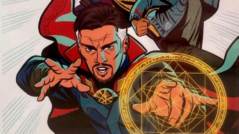 Doctor Strange in the Multiverse of Madness shares his first official art with his protagonists