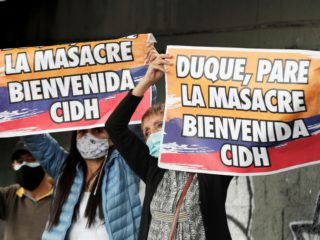 The Inter-American Commission on Human Rights assesses in Colombia if there were abuses in containing the protests
