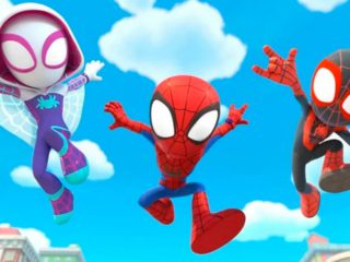 This is the animated short series Spidey and his super team: musical trailer and first images