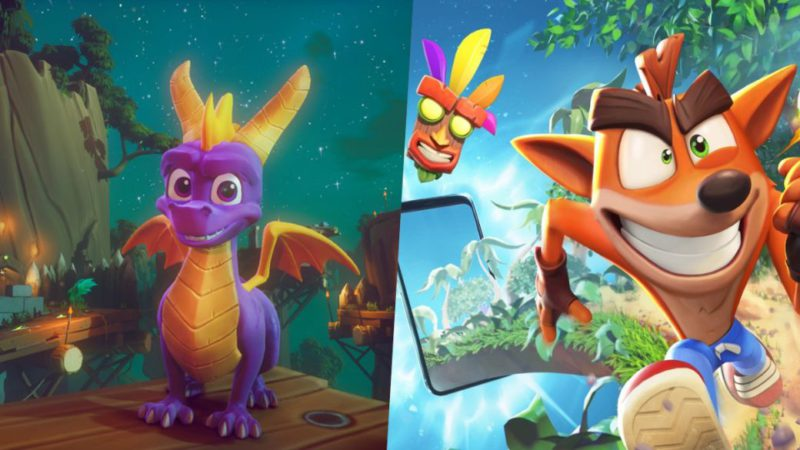 Spyro is back ... in the Crash Bandicoot mobile game