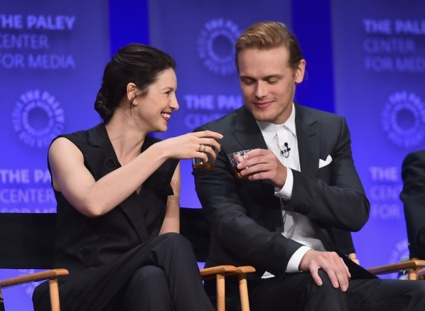 Sam and Caitriona were related many times.  Photo: (Getty)