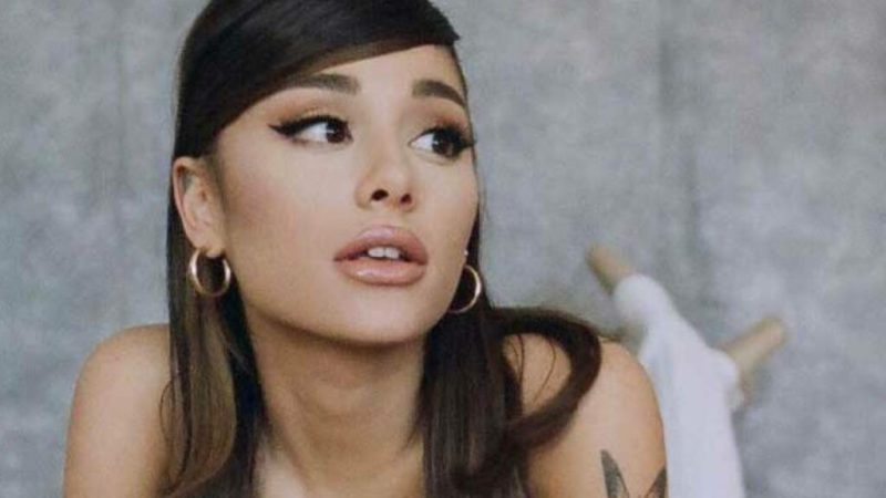 Goodbye ponytail?  Ariana Grande shared a rare glimpse of her natural hair without extensions