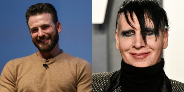 Before becoming famous, Chris Evans appeared in a Marilyn Manson video
