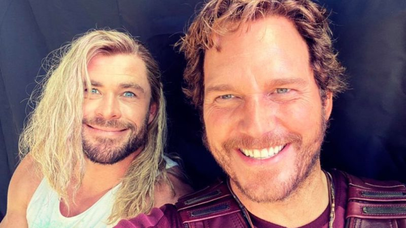 New look at Thor and Star-Lord looks in Thor 4 along with new art from the film
