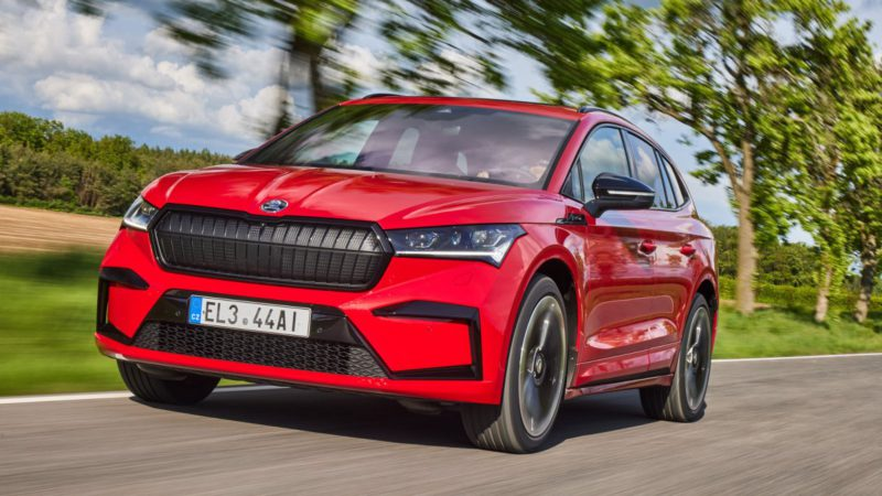 Electric car Skoda Enyaq iV 80X in the driving report: More power distributed