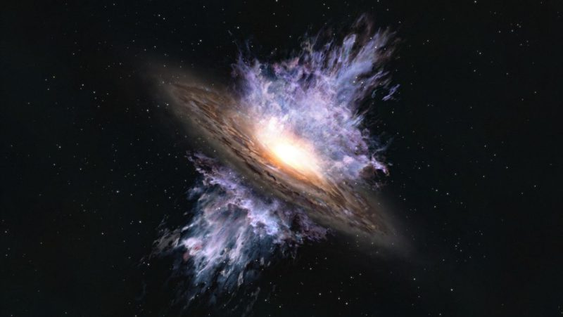 Detectan la tormenta espacial más antigua que generó un agujero negro universo temprano