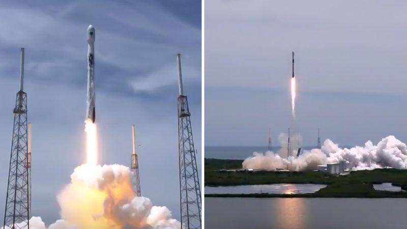 Por primera vez SpaceX reutiliza un cohete Falcon 9 para lanzar un satélite GPS para la Fuerza Espacial de EE.UU.