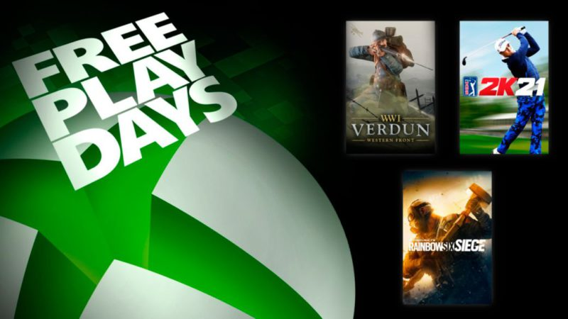 PGA Tour 2K21 and Rainbow Six Siege among the games to play for free with Xbox Live Gold