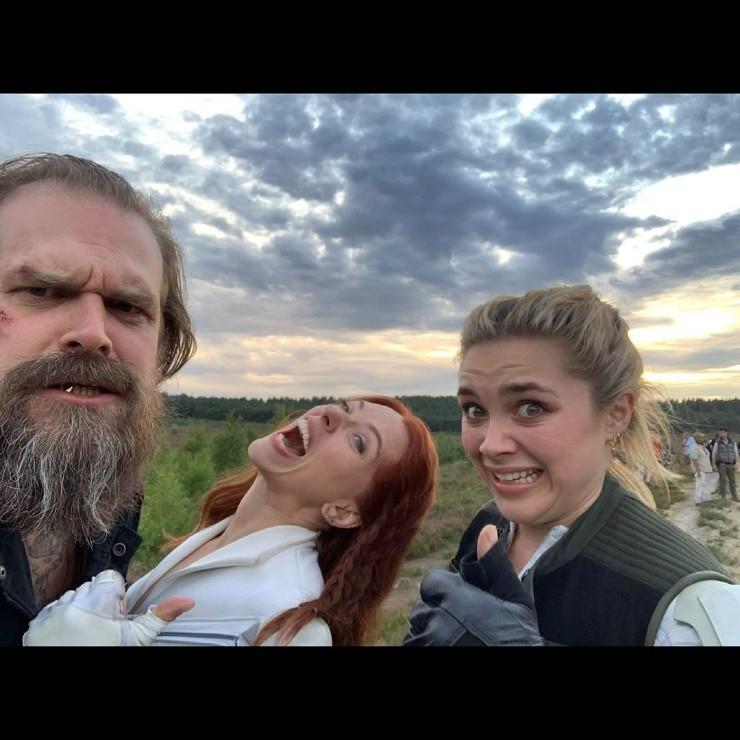 David Harbour, Scarlett Johansson, Florence Pugh