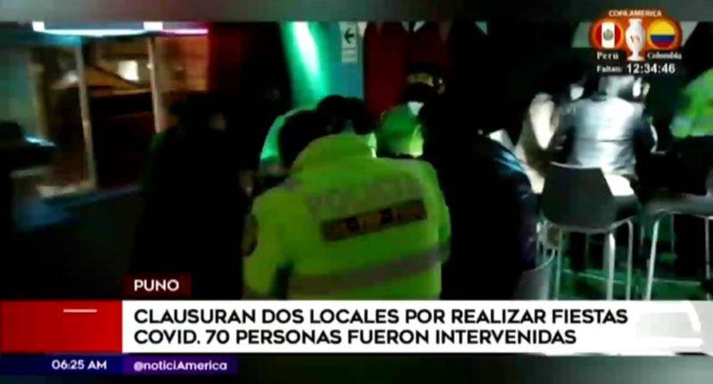 Puno: 70 people are involved in a clandestine party - Diario Trome