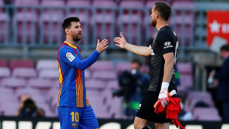 Jan Oblak puts Messi and Mbappé in his historic eleven, but leaves Cristiano out