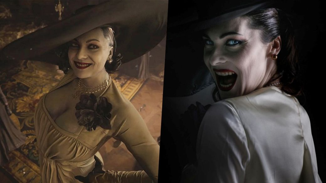 Resident Evil Village: Lady Dimitrescu's model is excited to see her character on screen