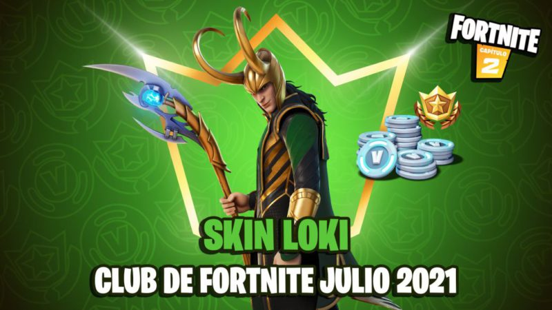 This is the Loki skin of the Fortnite Club of July 2021