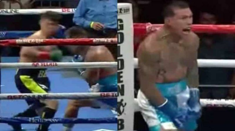 A blow to the jaw and straight to the canvas: Gabriel Rosado turned Bektemir Melikuziev over with one of the best knockouts of the year