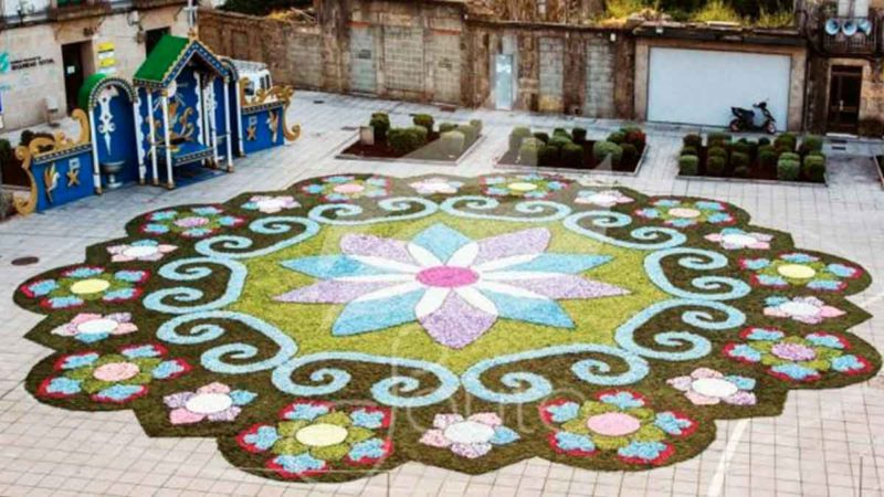 A large floral carpet will reproduce the Sarmental rose window of Burgos Cathedral on its 800th anniversary