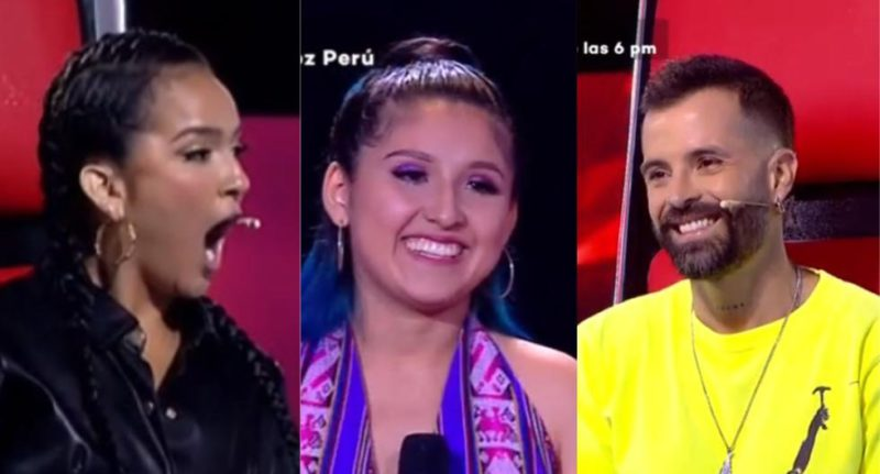"""""""La Voz Perú"""": Daniela Darcourt is upset with Mike Bahía for blocking his chair for the second time 