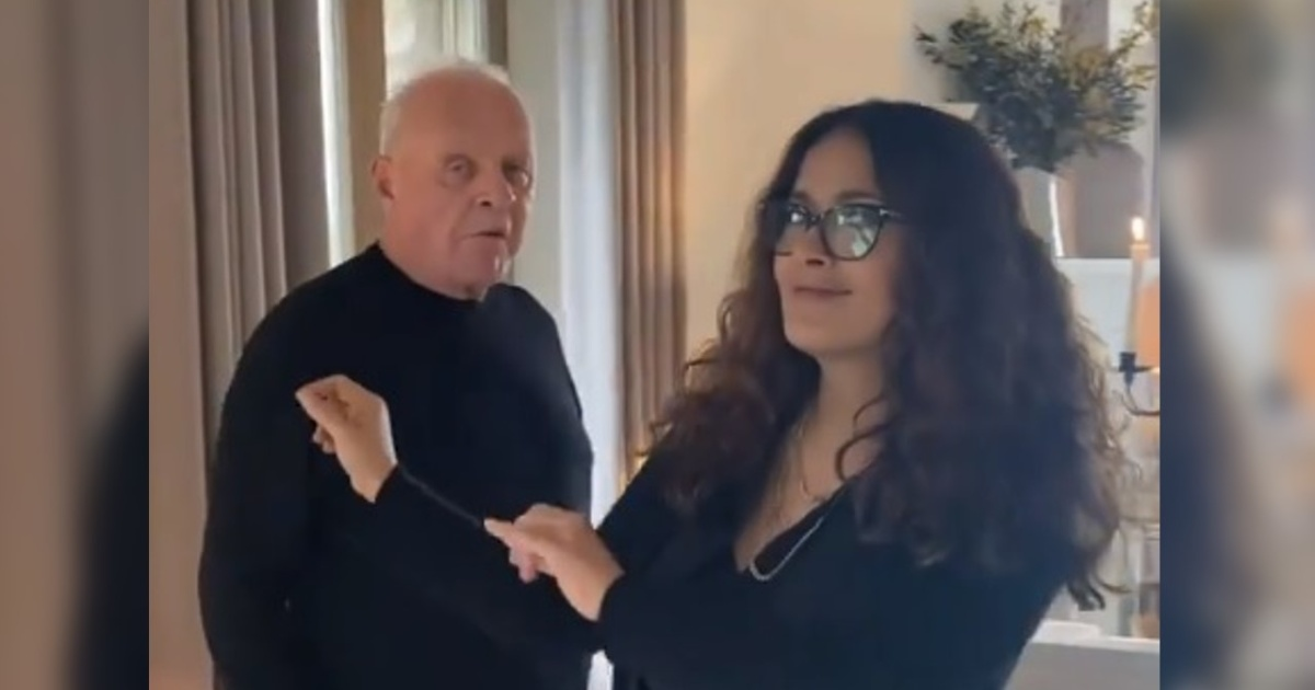 Anthony Hopkins Celebrates His Oscar Award Dancing With Salma Hayek - Market Research Telecast