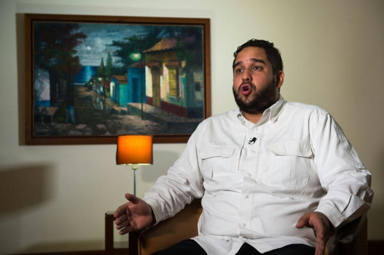El diputado venezolano Nicolás Maduro Guerra, hijo del presidente, ofrece una entrevista a la AFP el 29 de noviembre de 2020 en La Guaira