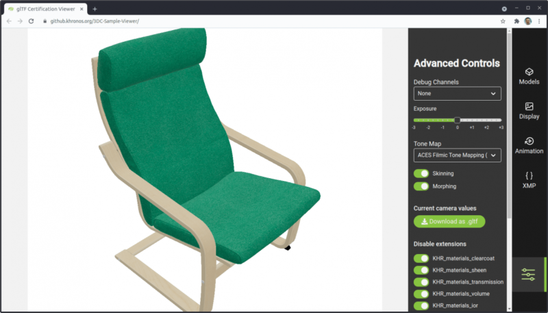 Cross-industry standard for realistic 3D models