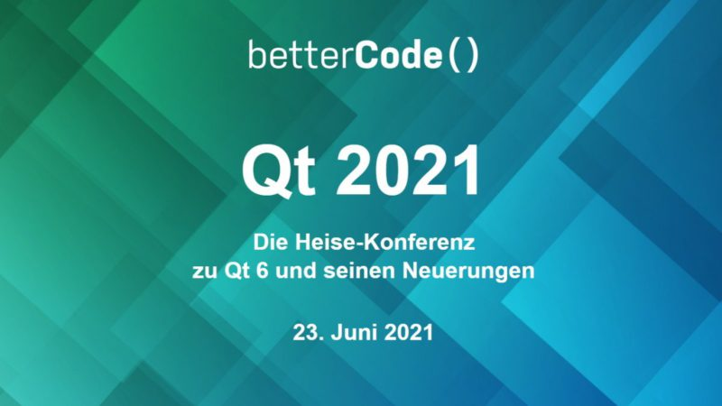 Cross-platform: Book tickets for the Qt 6 conference now
