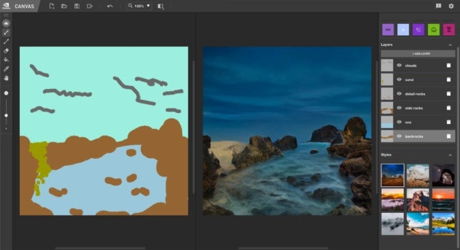 Download the beta of this Nvidia app that allows you to turn your simple sketches into photorealistic art