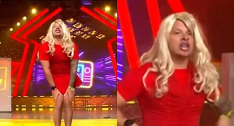 """""""This is war"""": Mario Hart and his hilarious imitation of Susy Díaz in a red dress 