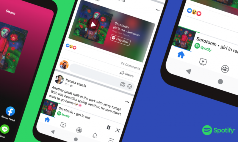 Facebook introduces mini players for Spotify podcasts