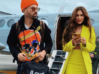 Greeicy Rendón and Mike Bahía welcome a new member to their family!