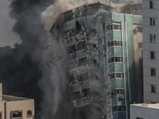 Israel says tower it toppled in Gaza was used by Hamas to try to disable the 'Iron Dome'