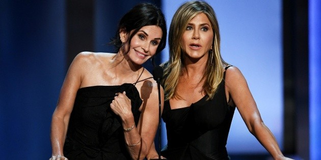 Jennifer Aniston and Courteney Cox were a couple of the same famous