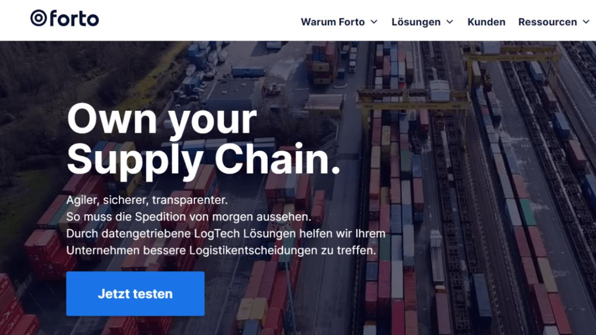 Logistics start-up Forto worth one billion euros after financing round