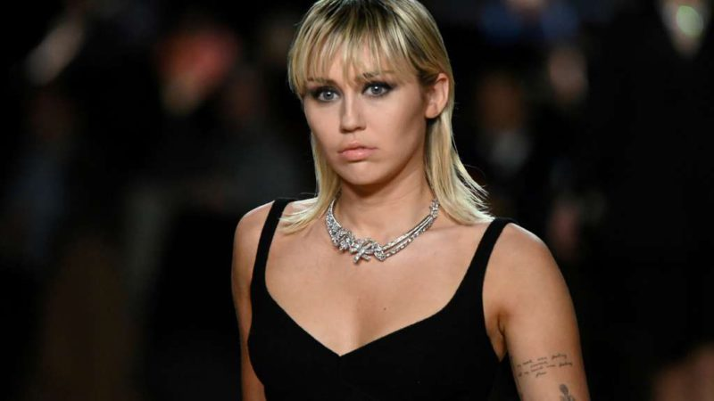 Miley Cyrus debuted as a luxury perfume model