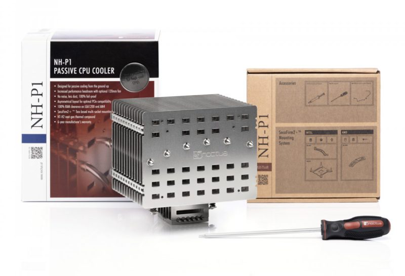Noctua NH-P1: Passive CPU cooler with a weight of 1.2 kg