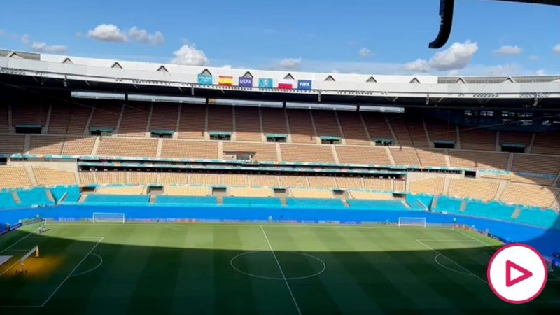 Objective achieved: La Cartuja grass improves for the game against Poland