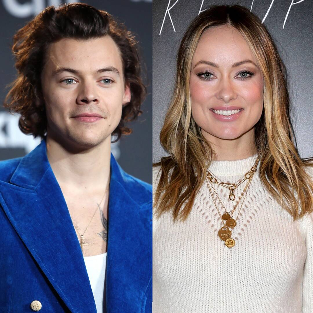 Olivia Wilde reacts to questions about Harry Styles