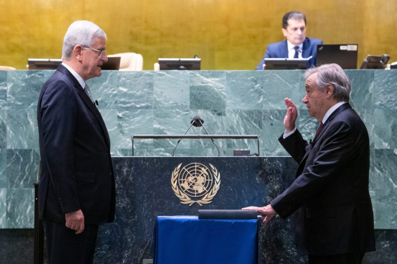 The UN confirms again António Guterres as secretary general in the recovery phase of the pandemic