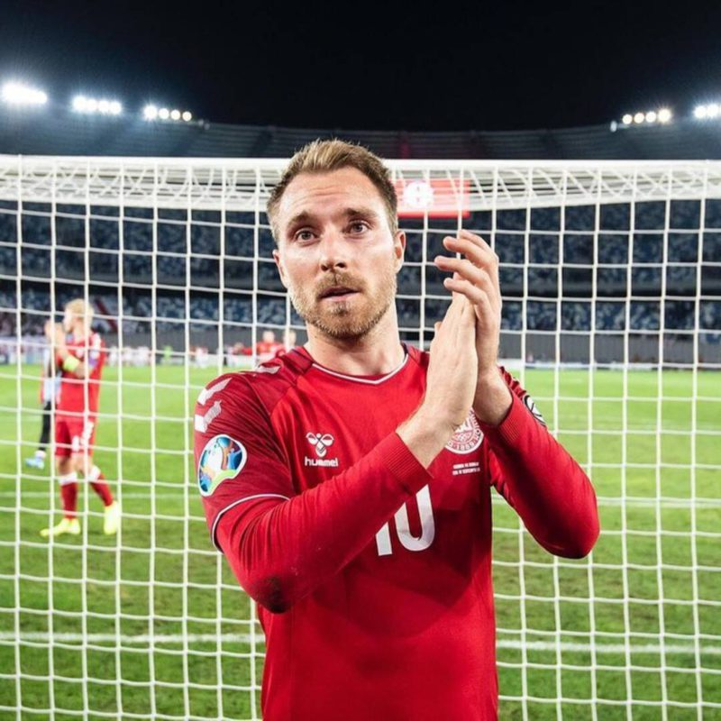 The first image and the message of Christian Eriksen after the collapse he suffered in the Eurocup