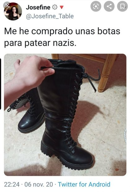 """The new 'intellectual' of Pablo Iglesias: """"I bought some boots to kick Nazis"""""""