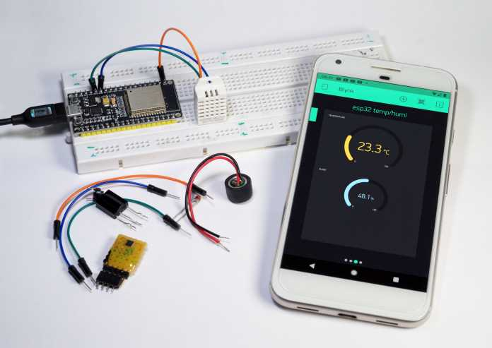 Lead, ESP32 and cell phone via IoT