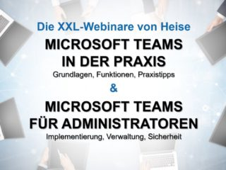 XXL webinars on Microsoft Teams: corporate deployment and system administration