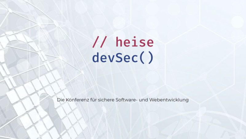heise devSec: Longer early bird discount for days on DevSecOps and web development