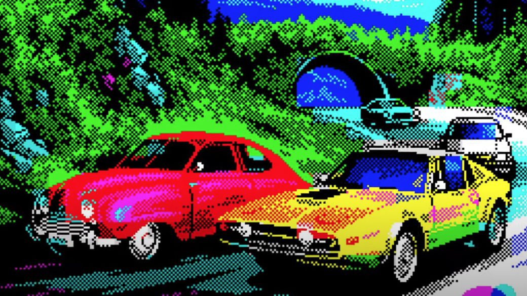 Smash the technical limits of the ZX Spectrum with a spectacular racing game